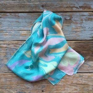 Stunning Vintage Silk Scarf