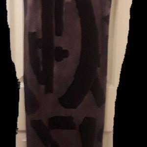 Black and purple long dress