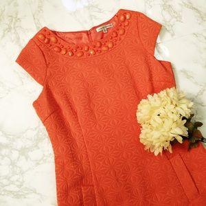 Sandra Darren orange dress