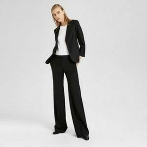 Theory Elkers Wide Leg Black Trousers