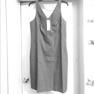 NEW Luxe Brushed Twill Paneled Sheath Dress