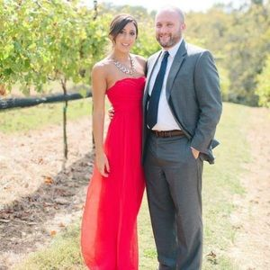 Lulus Red Maxi Strapless Gown