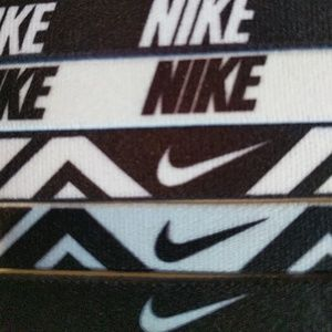 6 Nike elastic headbands