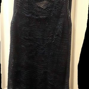 Navy and blue knitted top(NWOT)