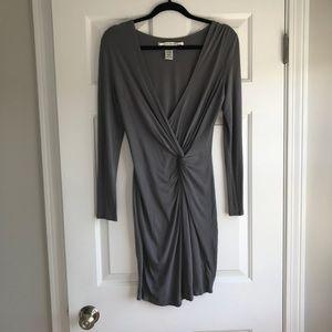 Max studio | Gray knot dress