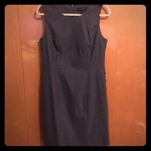 Banana Republic Grey Petite Work Dress