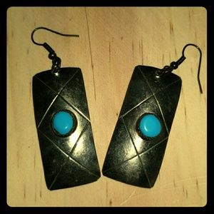 Turquoise earrings navajo/ bohemian