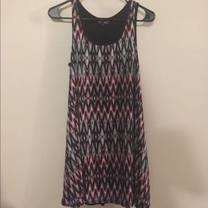 Adorable zig zag pattern casual dress