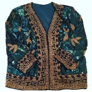 Gorgeous Versace Inspired Sequin Blazer