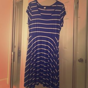 Blue and white stripe Old Navy Dress