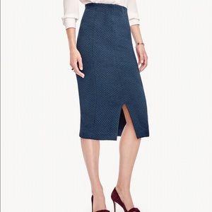 Ann Taylor Jacquard Pencil Skirt