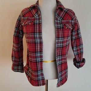 Lumberjack plaid snap button flannel