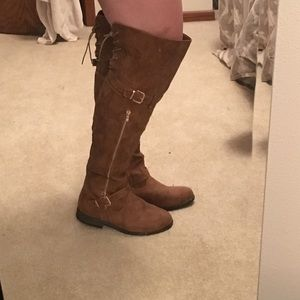 Woman's Wide Calf Over The Knee Boot