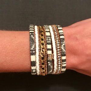 NWT Anthropologie Stacked wrap boho cuff bracelet