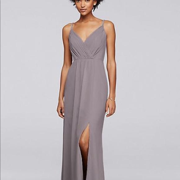 David\'s Bridal Dresses   F19281 Davids Bridal Long Dress With Beaded ...