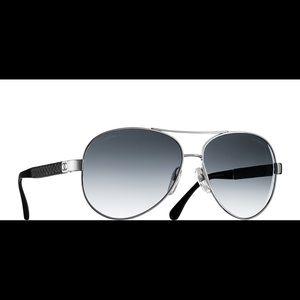 Chanel 4195 Pilot Spring Aviator Sunglasses