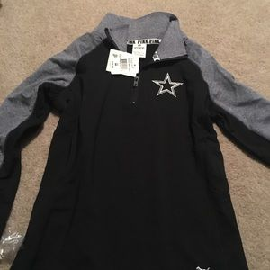 Pink Dallas Cowboys 1/4 zip small
