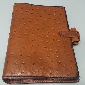 Filofax ostrich calf leather organizer