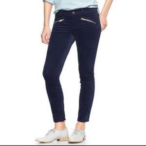 Gap • Blue velvet ankle always skinny pants