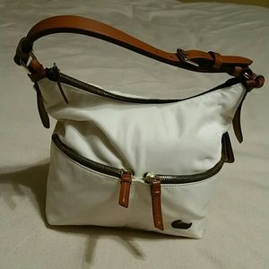 Dooney and Burke white small shoulder bag