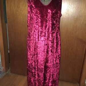 V-neck Bodycon Velvet Cocktail Dress size XL