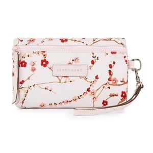 Longchamp Le Pliage Sakura Pink Wristlet