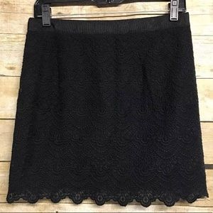 J.Crew scalloped lace mini skirt SZ 0
