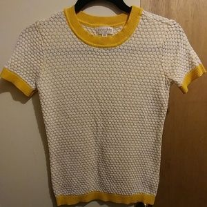 Maison Jules yellow patterned top