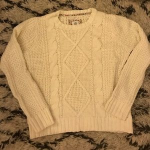 Cable Knit Crew Neck Sweater