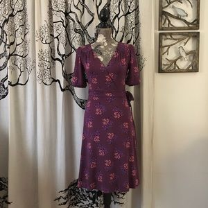 Boden Soft Fall Wrap Dress SZ US 6/8