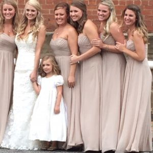 Jasmine B2 bridesmaid dress beige size 10
