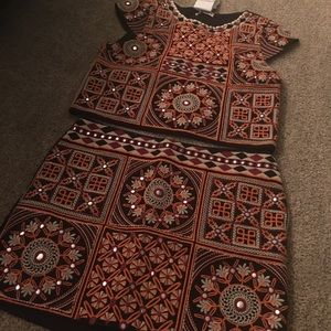 NWT TOP from Pull & bear with matching skirt