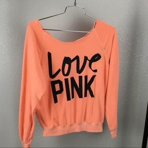 Victoria's Secret PINK Bright Orange Sweatshirt  S