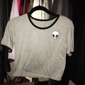 alien patch t shirt