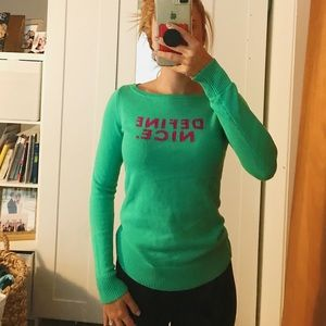 Lilly Pulitzer sweater.