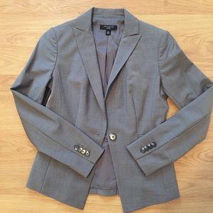 Ann Taylor Petite Gray Wool Blazer