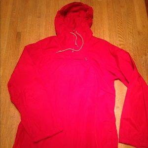 Red windbreaker fitness jacket
