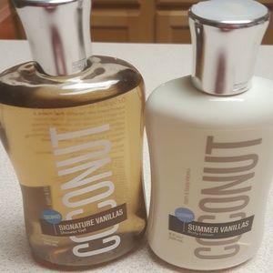 BBW Coconut Vanilla body lotion and shower gel