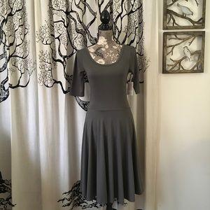 NWT LuLaRoe Nicole - HTF Solid Steel Grey