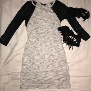 Express T-shirt style dress with sheer sleeves :)