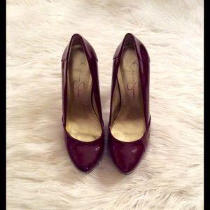 Deep Red/burgundy Jessica Simpson Patten heels