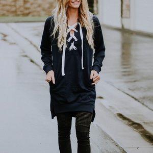 Navy sweater tunic