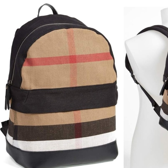 7d38f586e885 Burberry Check Print Canvas backpack