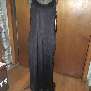 "Free People Women's ""She Moves"" Black Maxi Dress"