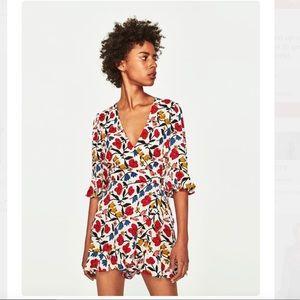 Zara wrap romper dress