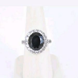 ESTATE REAL GENUINE ONYX & solid Sterling Silver