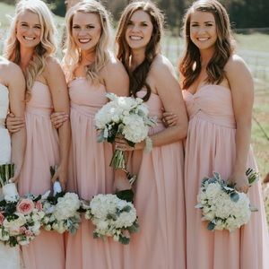 Pink bridesmaid dress size 10