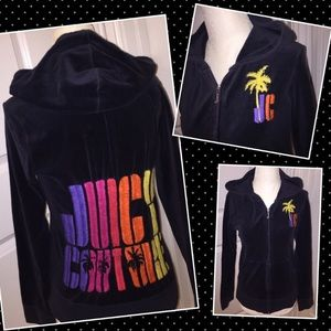Juicy Couture Velour Jacket  crew full zip LARGE