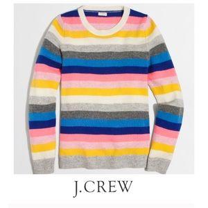J. Crew Colorful Stripe Lambswool Sweater