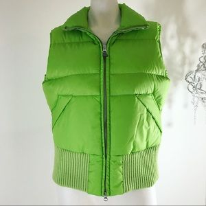 Tommy Hilfiger Bright Green Down Puffer Vest Lg